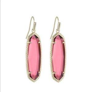 Kendra Scott Layla dropped earrings berry glass